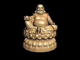 Budai Buddha Statue 3d model