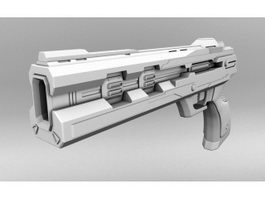 Futuristic Pistol 3d preview
