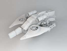 Sci-Fi Gunship Concept 3d model