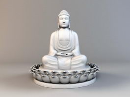 India Buddha Statue 3d model