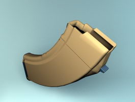 Assault Rifle Magazine 3d preview
