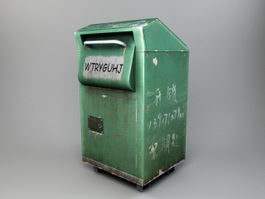 Dirty Garbage Can 3d model