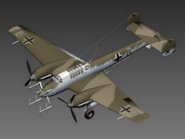 Bf 110 Night Fighter 3d preview