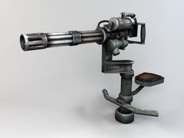 Anti Air Minigun 3d preview