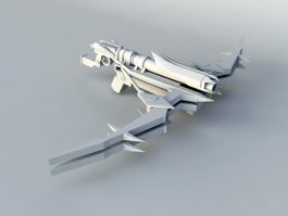 Futuristic Crossbow 3d model
