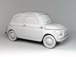 Fiat 500 Small City Car 3d model