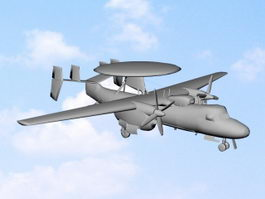 E-2C AWACS Aircraft 3d model