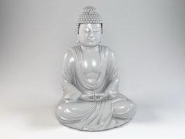 Amitabha Buddha Statue 3d model