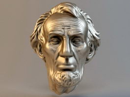 Abraham Lincoln Head Sculpture 3d model