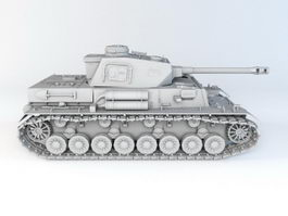 German Leopard 2 MBT 3d model