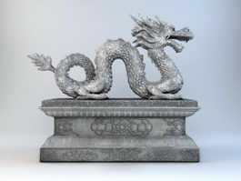 Stone Dragon Sculpture 3d model