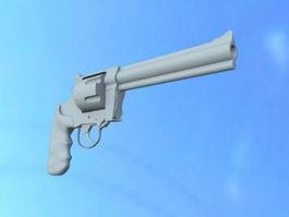 Western Revolver Gun 3d model