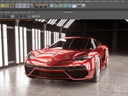 Red Lamborghini 3d model