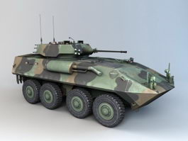 LAV-25 Wheeled Reconnaissance Vehicle 3d model