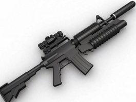 Model 733 Commandos Carbine 3d model