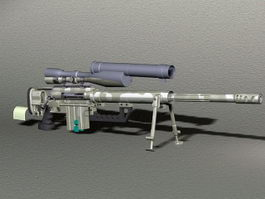 CheyTac M200 Intervention Sniper Rifle 3d model
