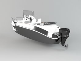 Small Powerboat 3d model