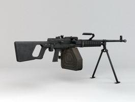 QJY-88 Machine Gun 3d model