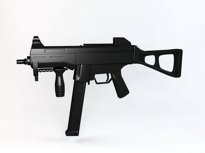 UMP45 Gun 3d rendering