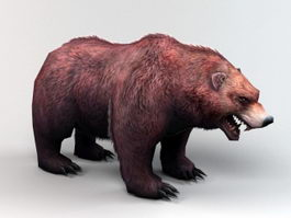 Fat Brown Bear 3d preview