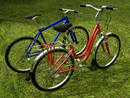Two Bicycles 3d model
