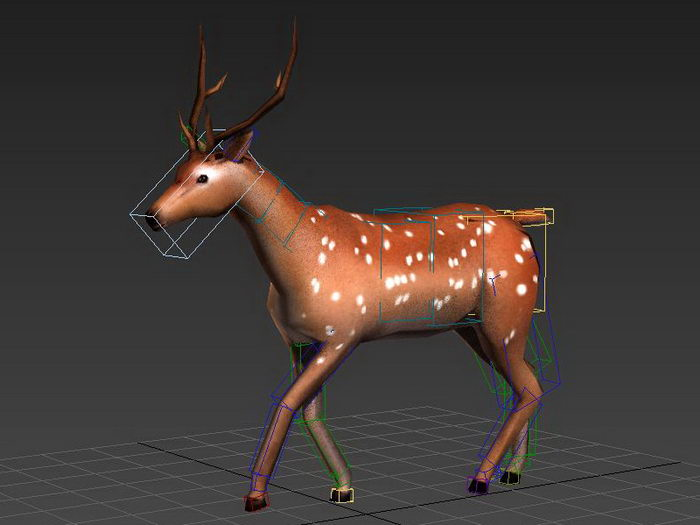 Running Deer Animation 3d rendering