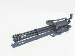 Rotary Heavy Machine Gun 3d model