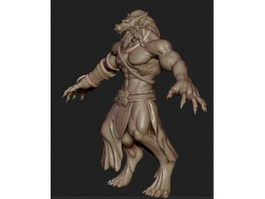 Human Werewolf 3d preview
