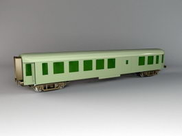 Old Passenger Train Car 3d model