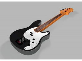 Acoustic-Electric Guitar 3d model