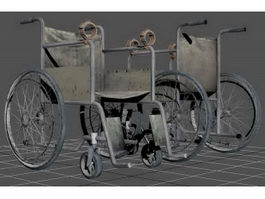Wheelchair with Shackle 3d model
