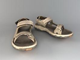 Men's Sandals 3d model
