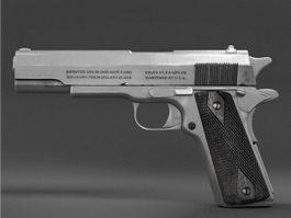 Colt Model 1910 Pistol 3d model