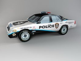 Government Police Car 3d model