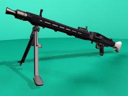 Nazi Germany MG 42 Machine Gun 3d model