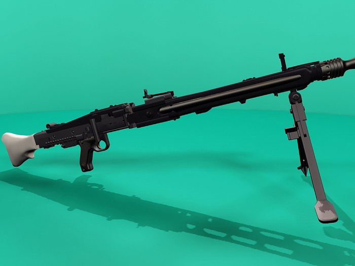 Nazi Germany MG 42 Machine Gun 3d rendering