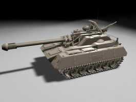 Future Army Tank 3d model