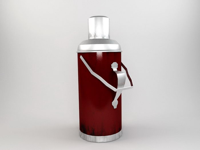 Stanley Thermos Bottle 3d rendering