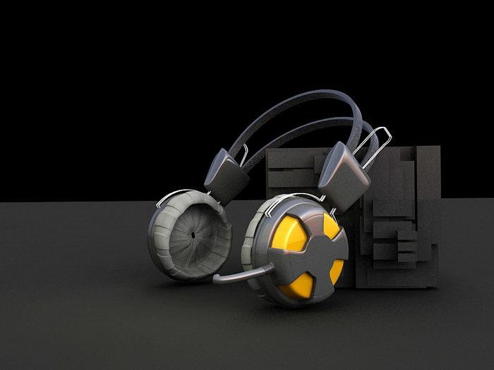 Music Headphone 3d rendering