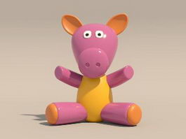 Pig Toy Figurine 3d model