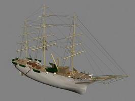 Barque Ship 3d model