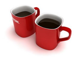 Nescafe Red Mugs 3d model