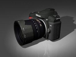 Nikon D90 DSLR 3d model
