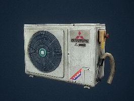 Old Air Conditioning Unit 3d model