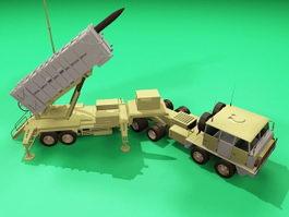 Patriot Air Defense Missile 3d model