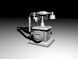 Vintage Telephone 3d preview