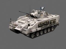 UNPROFOR Military Tank 3d model