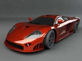 Red Supercar 3d model