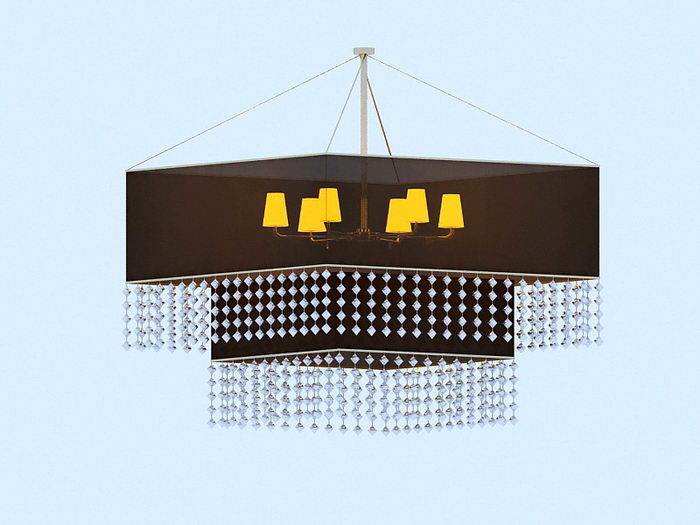 Chinese Chandelier 3d rendering