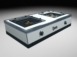 Cooktop Gas Stove 3d model
